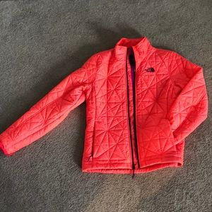 Neon pink North Face